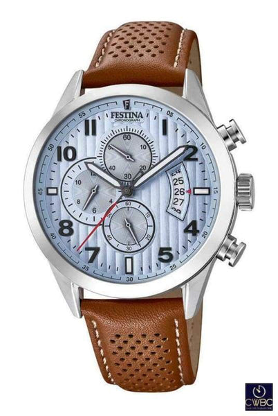 Festina Jewellery & Watches:Watches, Parts & Accessories:Wristwatches Festina Mens Chrono Watch with Leather Strap F20271