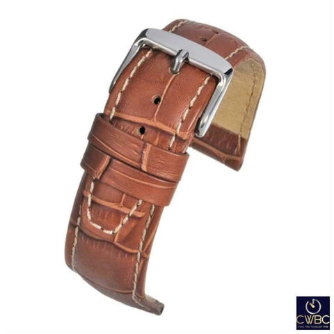 LBS Jewellery & Watches:Watches, Parts & Accessories:Wristwatch Straps Tan / 18 LBS Premium Coloured Watch Straps