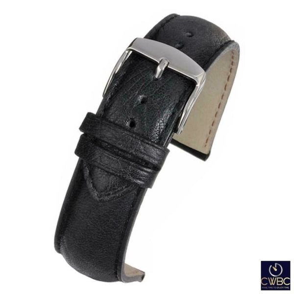 LBS Jewellery & Watches:Watches, Parts & Accessories:Wristwatch Straps Black / 18 LBS Premium Range Leather Watch Straps