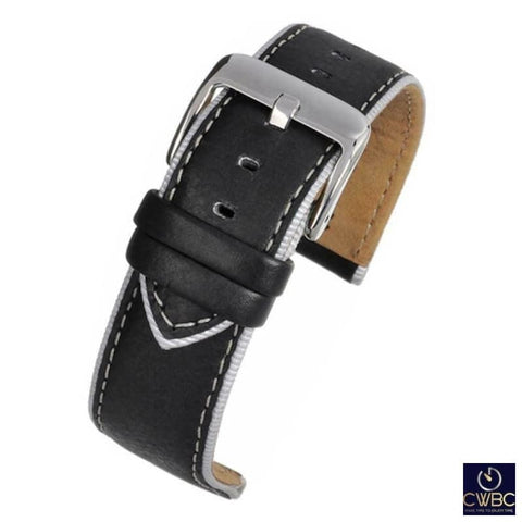 LBS Jewellery & Watches:Watches, Parts & Accessories:Wristwatch Straps Black / 18 LBS Premium Watch Strap 2 Colours and Sizes Available
