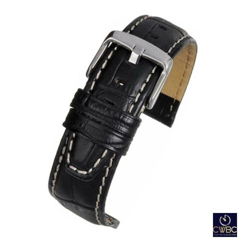 LBS Jewellery & Watches:Watches, Parts & Accessories:Wristwatch Straps Black / 18 LBS Premium Watch Strap 3 Colours and Sizes Available