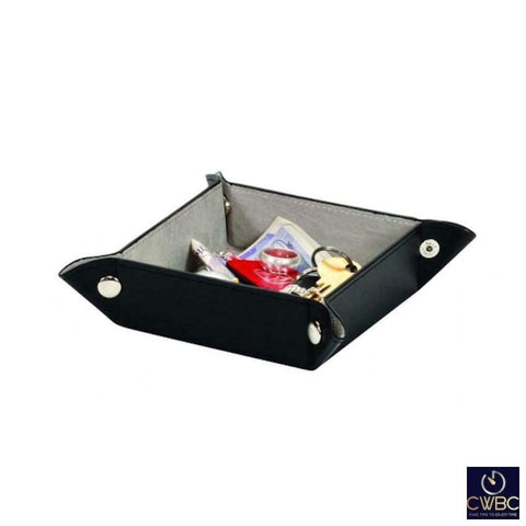 Mele & Co Jewellery & Watches:Jewellery Boxes & Supplies:Jewellery Boxes Mele & Co Black Manhattan Gentlemens Coin Storage Travel Tray