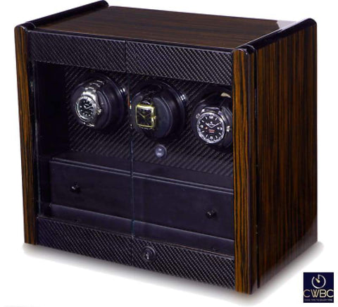 Orbita Jewellery & Watches:Watches, Parts & Accessories:Boxes, Cases & Watch Winders Orbita Avanti 3 - Triple Rotorwind Watch Winder Cabinet