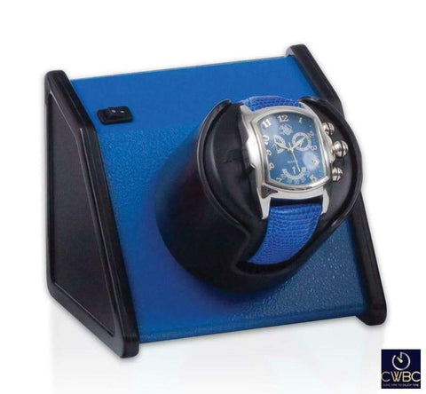 Orbita Jewellery & Watches:Watches, Parts & Accessories:Boxes, Cases & Watch Winders Orbita Sparta 1 Single Watch Winder - Vibrant Blue
