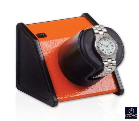 Orbita Jewellery & Watches:Watches, Parts & Accessories:Boxes, Cases & Watch Winders Orbita Sparta 1 Single Watch Winder - Vibrant Orange