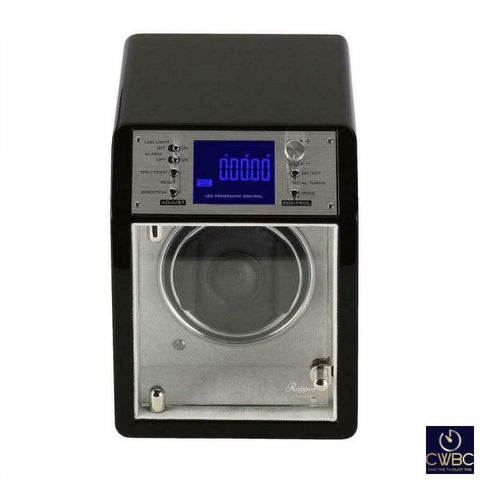 Rapport Jewellery & Watches:Watches, Parts & Accessories:Boxes, Cases & Watch Winders Rapport Cosmic Single Programmable Watch Winder Ebony finished