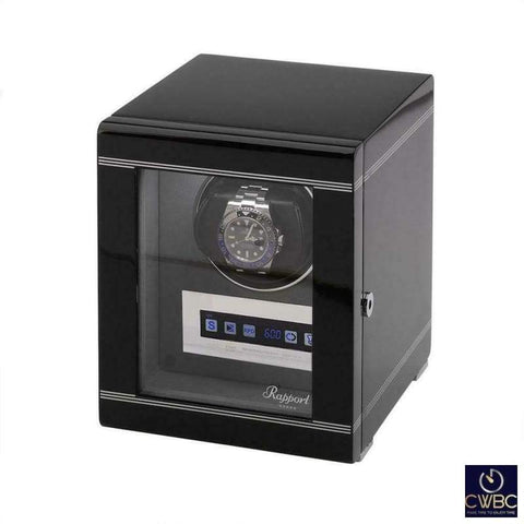 Rapport Jewellery & Watches:Watches, Parts & Accessories:Boxes, Cases & Watch Winders Rapport Formula Single Programable Watch Winder in Gloss Black