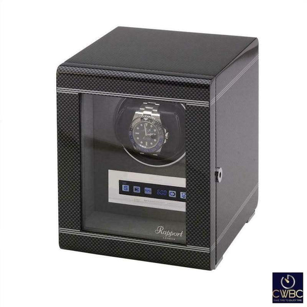 Rapport Jewellery & Watches:Watches, Parts & Accessories:Boxes, Cases & Watch Winders Rapport Formula Single Watch Winder Carbon Fibre
