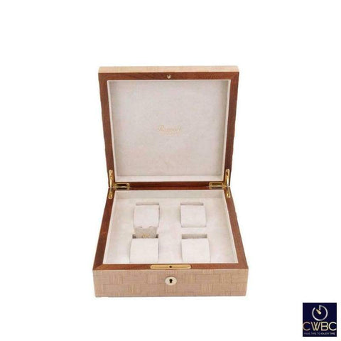 Rapport Jewellery & Watches:Watches, Parts & Accessories:Boxes, Cases & Watch Winders Rapport Heritage Hand Crafted Bamboo Watch Box for 4 Watches with Suede Lining