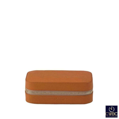 Rapport Jewellery & Watches:Watches, Parts & Accessories:Boxes, Cases & Watch Winders Rapport Hyde Park Tan Leather 2 Watch Divider Zip Case