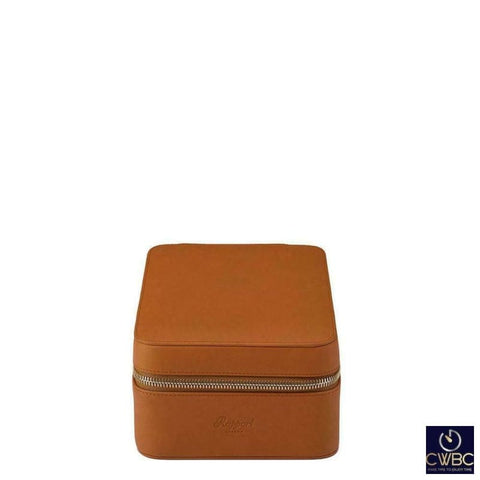 Rapport Jewellery & Watches:Watches, Parts & Accessories:Boxes, Cases & Watch Winders Rapport Hyde Park Tan Leather 4 Watch Zip Case with Luxurious Suede Lining