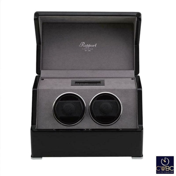 Rapport Jewellery & Watches:Watches, Parts & Accessories:Boxes, Cases & Watch Winders Rapport Perpetua III Duo 2 Watch Winder Touch Screen controls Gloss Black finish