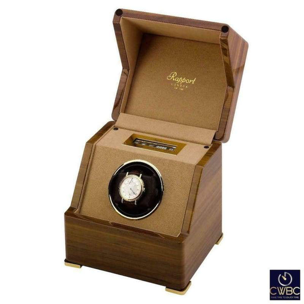 Rapport Jewellery & Watches:Watches, Parts & Accessories:Boxes, Cases & Watch Winders Rapport Perpetua III Single watch Winder Touch Screen Walnut Finish