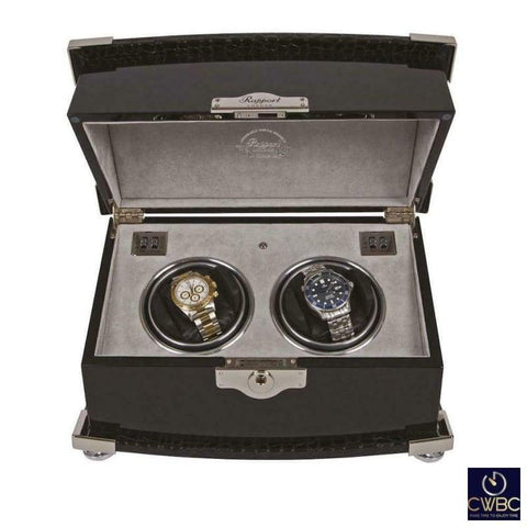 Rapport Jewellery & Watches:Watches, Parts & Accessories:Boxes, Cases & Watch Winders Rapport Serpentine Duo 2 Watch Winder Piano finished Ebony