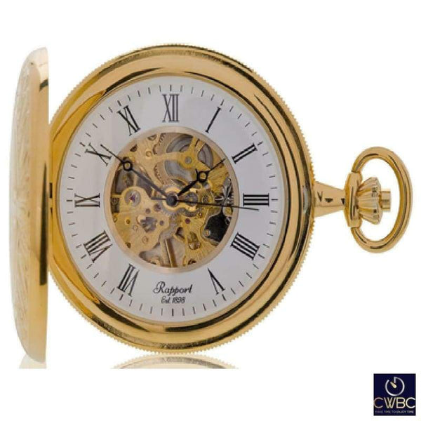 Rapport Jewellery & Watches:Watches, Parts & Accessories:Pocket Watches Rapport Oxford Mechanical Full Hunter Pocket Watch Gold Plated Metal PW96