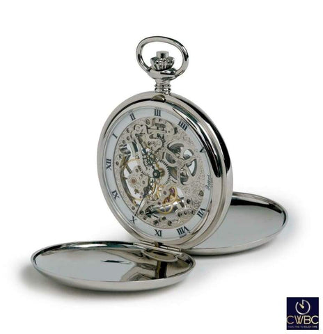 Rapport Jewellery & Watches:Watches, Parts & Accessories:Pocket Watches Rapport Oxford Mechanical Skeleton Double Hunter Pocket Watch