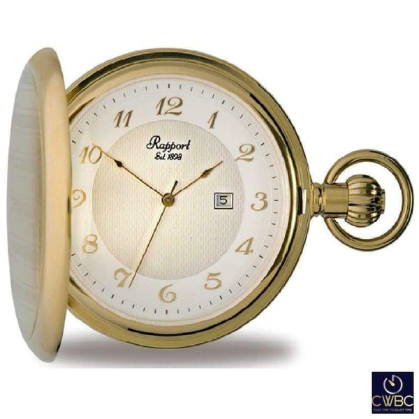 Rapport Jewellery & Watches:Watches, Parts & Accessories:Pocket Watches Rapport Oxford Quartz Full Hunter Gold Plated Pocket Watch PW70