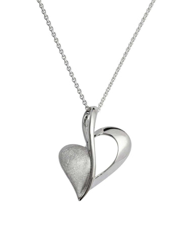 Unique & Co Unique & Co Sterling Silver Double Love Heart Necklace Pendant