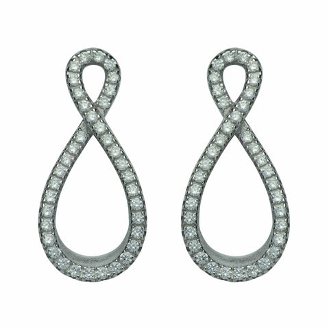 Unique & Co Unique & Co Sterling Silver Infinity Loop Stud Earrings