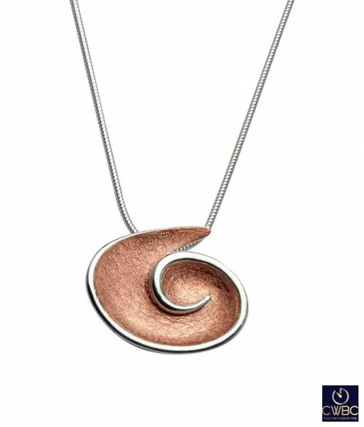 Unique & Co Jewellery & Watches:Fine Jewellery:Fine Necklaces & Pendants:Precious Metal without Stones Unique & Co Two Tone Rose Gold & Silver Swirl Necklace