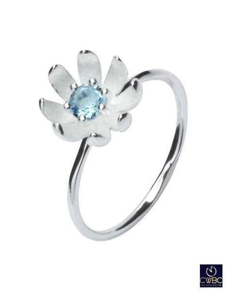 Unique & Co Jewellery & Watches:Fine Jewellery:Fine Rings:Gemstone White / 54 Unique & Co Silver Flower Jewel Ring