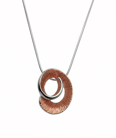 Unique & Co Unique & Co Rose Gold Curl Pendant Necklace