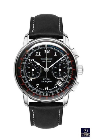 Zeppelin Jewellery & Watches:Watches, Parts & Accessories:Wristwatches Zeppelin Quartz Black Series LZ126 Los Angeles Wrist Watch. 7614_2