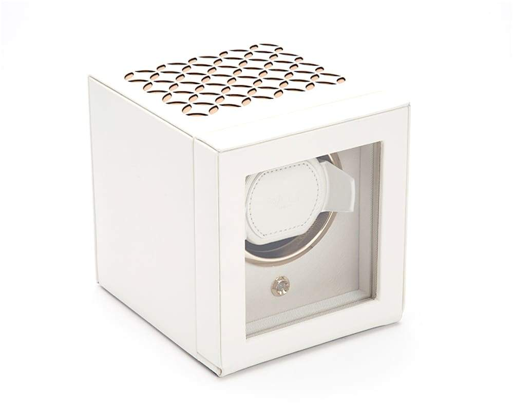 Wolf Leather Watch Winder with Cover