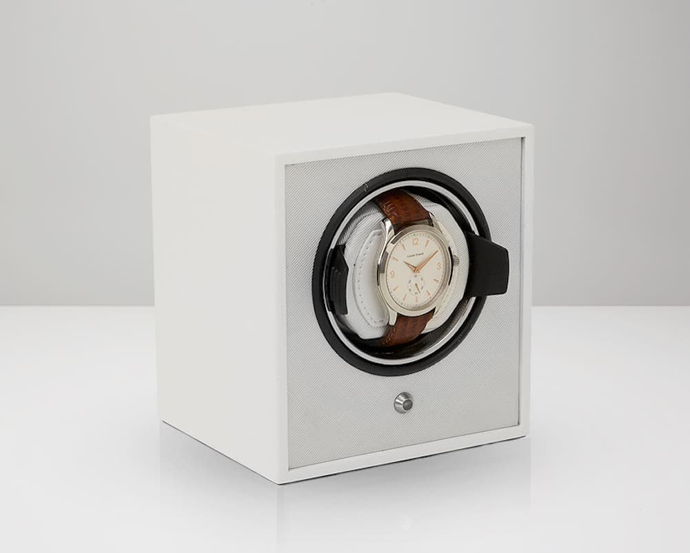 Wolf Laquered Cub Single Watch Winder in White