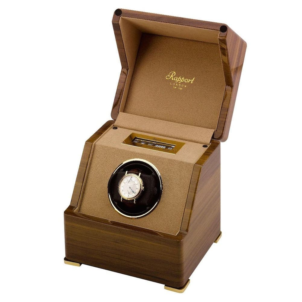 Rapport Perpetua III Single watch Winder Touch Screen Walnut Finish