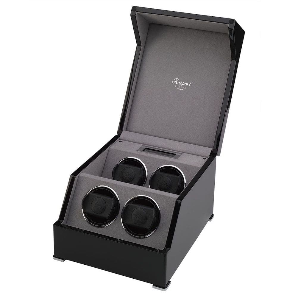 Rapport Perpetua III Quad 4 Watch Winder Touch Screen Black Gloss Finish