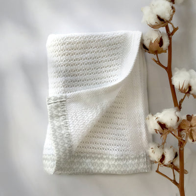 Newborn Baby Blanket<br>White