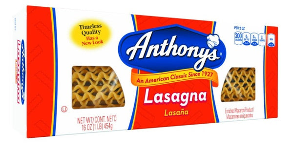 Anthony- Lasagna Pasta