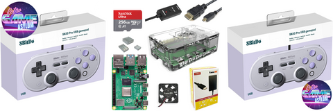 Items that come with The best Raspberry Pi 4 build you'll ever find! With the 'Biggest & Best microSD Card 256gb with RetroPie 4.7!'