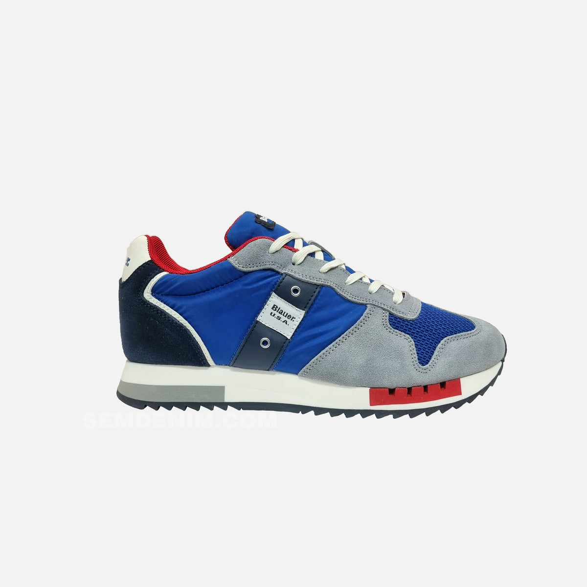 BLAUER SNEAKERS QUEENS STONEWASHED UOMO