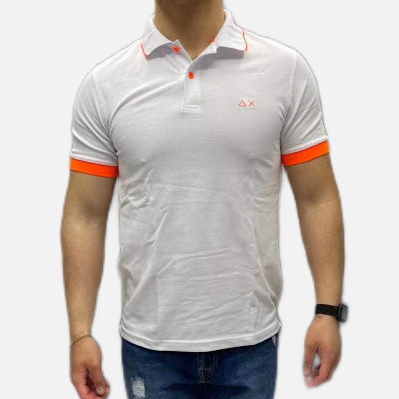 SUN68 POLO SMALL STRIPES FLUO UOMO