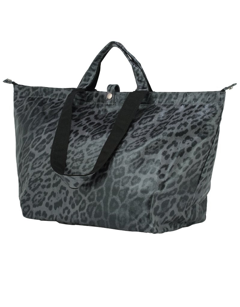 Bolso Shopper Mediano Leopardo Gris