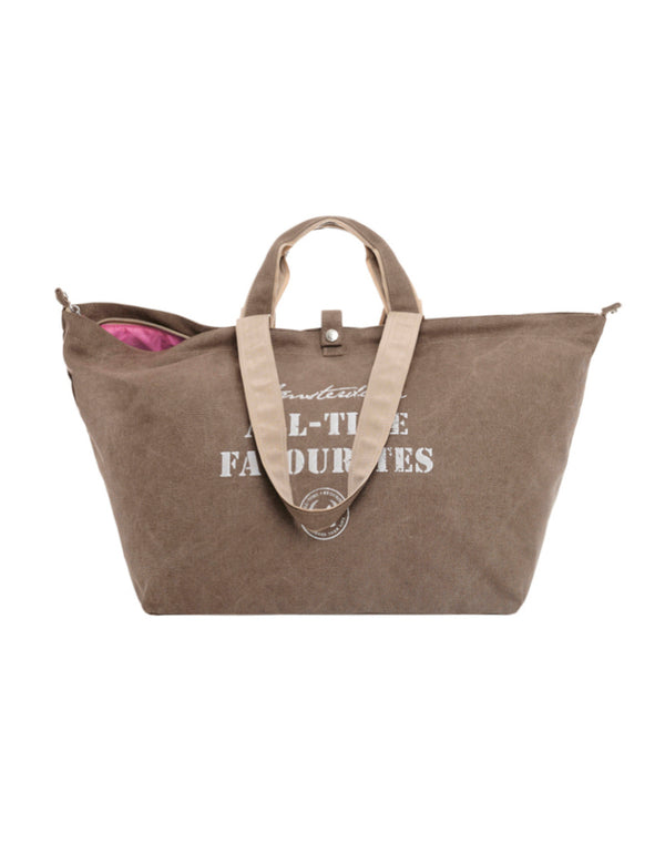 Bolso Shopper Lona Marrón  All-time Favourites