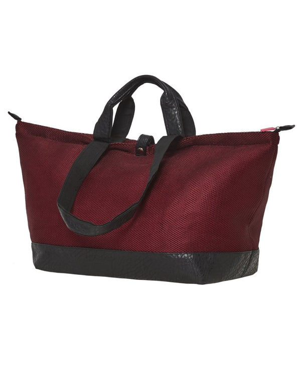 Bolso Shopper Mediano Cocodrilo y Malla Burdeos All-time Favourites