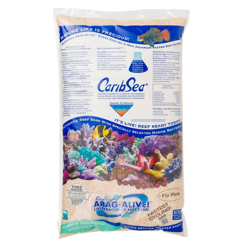 Dallas Aquarium Experts Recommends Arag-Alive Fiji Pink Substrate from CaribSea