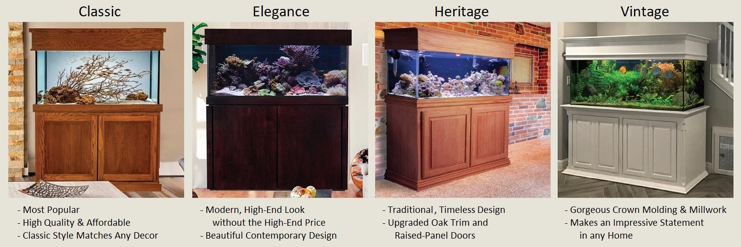 Custom Aquarium cabinetry styles