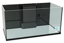 120 Gallon Rimless Glass Aquarium Reef Ready Tank with Internal Overflow
