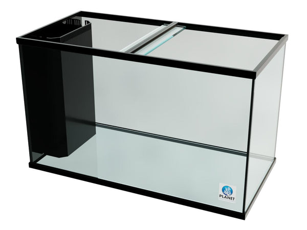 "140 Gallon Trimmed Glass Peninsula Aquarium with Internal Overflow 48.5""(L) X 24.5""(D) X 29.5""(H)"