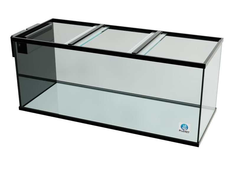 "150 Gallon Trimmed Glass Peninsula Aquarium with External Overflow 60.5""(L) X 24.5""(D) X 25""(H)"