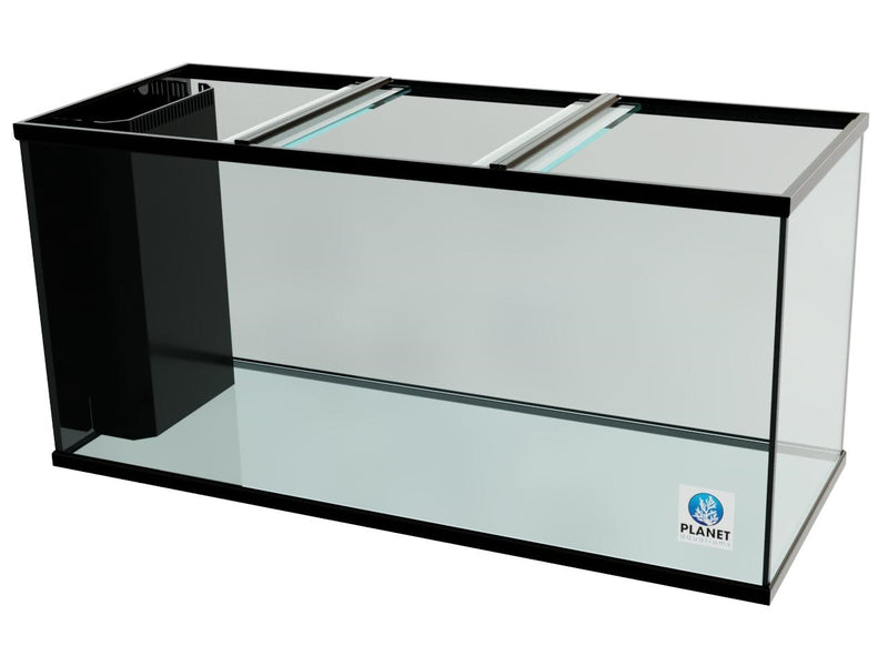 "175 Gallon Trimmed Glass Peninsula Aquarium with Internal Overflow 60.5""(L) X 24.5""(D) X 25""(H)"