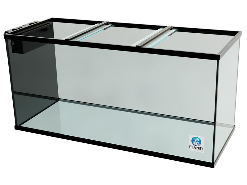 "175 Gallon Trimmed Glass Peninsula Aquarium with External Overflow 60.5""(L) X 24.5""(D) X 25""(H)"
