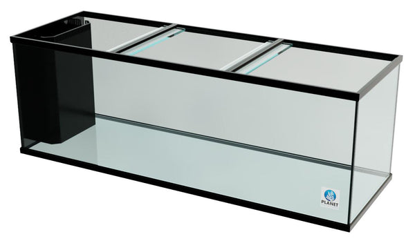 "180 Gallon Trimmed Glass Peninsula Aquarium with Internal Overflow 72.5""(L) X 24.5""(D) X 25""(H)"