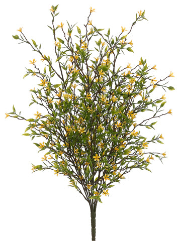 "20"" Wild Starflower Bush Yellow Plastic Aquarium Plant"