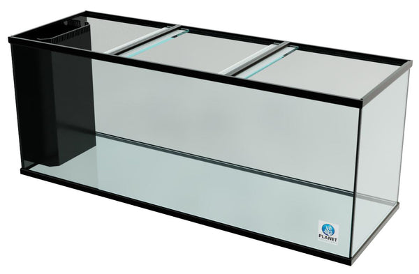 "215 Gallon Trimmed Glass Peninsula Aquarium with Internal Overflow 72.5""(L) X 24.5""(D) X 29.5""(H)"