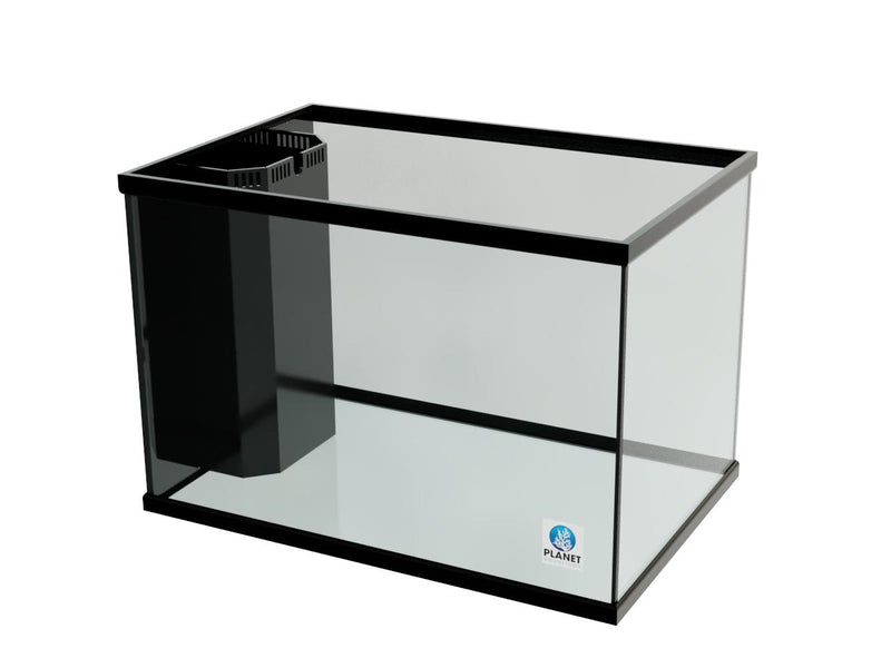 "90 Gallon Trimmed Glass Peninsula Aquarium with Internal Overflow 36.5""(L) X 24.5""(D) X 25""(H)"
